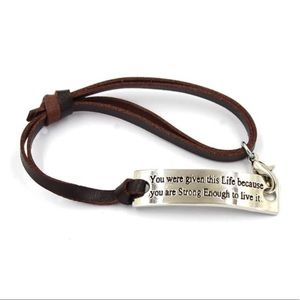 Jewelry - ✨ Strong Enough Motivation Bracelet ✨